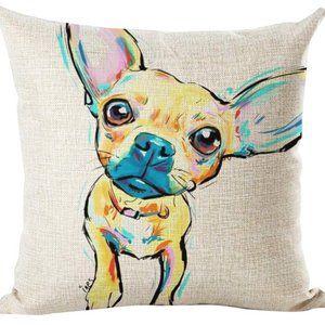 Chihuahua Puppy Throw Pillow Case NWT